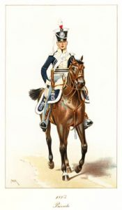 A private in the 11th Light Dragoons