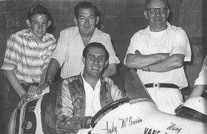 Andy is seated in his Clements Holden #15 speedway car. Source: Source: http://justmidgets.homestead.com/Clements.html