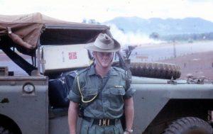 John Carter, Vietnam, 1967. Waiting for his flight home.